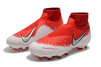 Футбольные бутсы Nike Phantom Vision Elite DF FG White/Wolf Grey/Bright Crimson