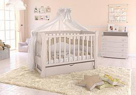 Дитяче ліжечко Angelo Lux-1 Слонова кість