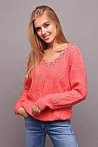 Эффектный свитер в стиле oversize со спущенным плечом с 44 по 50 размер, фото 2
