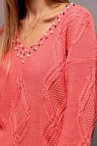 Эффектный свитер в стиле oversize со спущенным плечом с 44 по 50 размер, фото 3