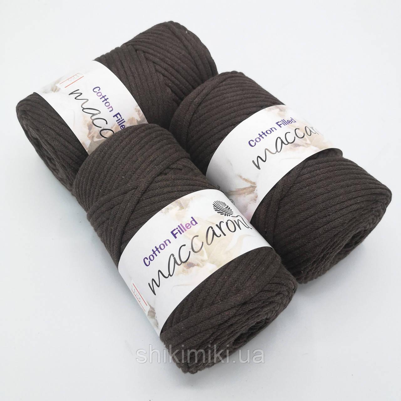 Трикотажный хлопковый шнур Cotton Filled 5 мм, цвет Шоколадный