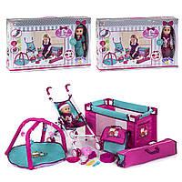 Кукла Большой Пупс 36 см функциональный со звуком с коляской, игровым ковриком и манежем 81868