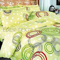 Постельное белье Теп бязь 180х215 Круги цветные 606, Желтый