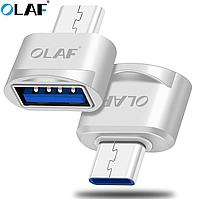 Адаптер Olaf OTG USB - Type-C Silver, фото 1