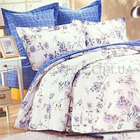 Жатое постельное белье Тиротекс 144х205 Мелисса, Голубой