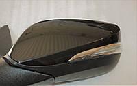 Зеркало левое электрическое с подогревом с повторителем черное (6 контакт) Hyundai grog Корея