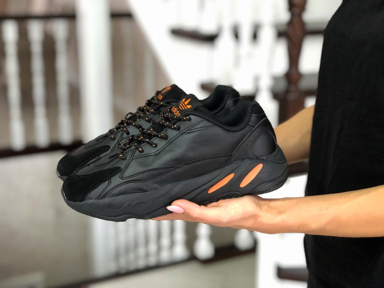 Женские кроссовки Adidas Yeezy Boost 700 (черные)