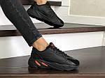 Женские кроссовки Adidas Yeezy Boost 700 (черные), фото 4