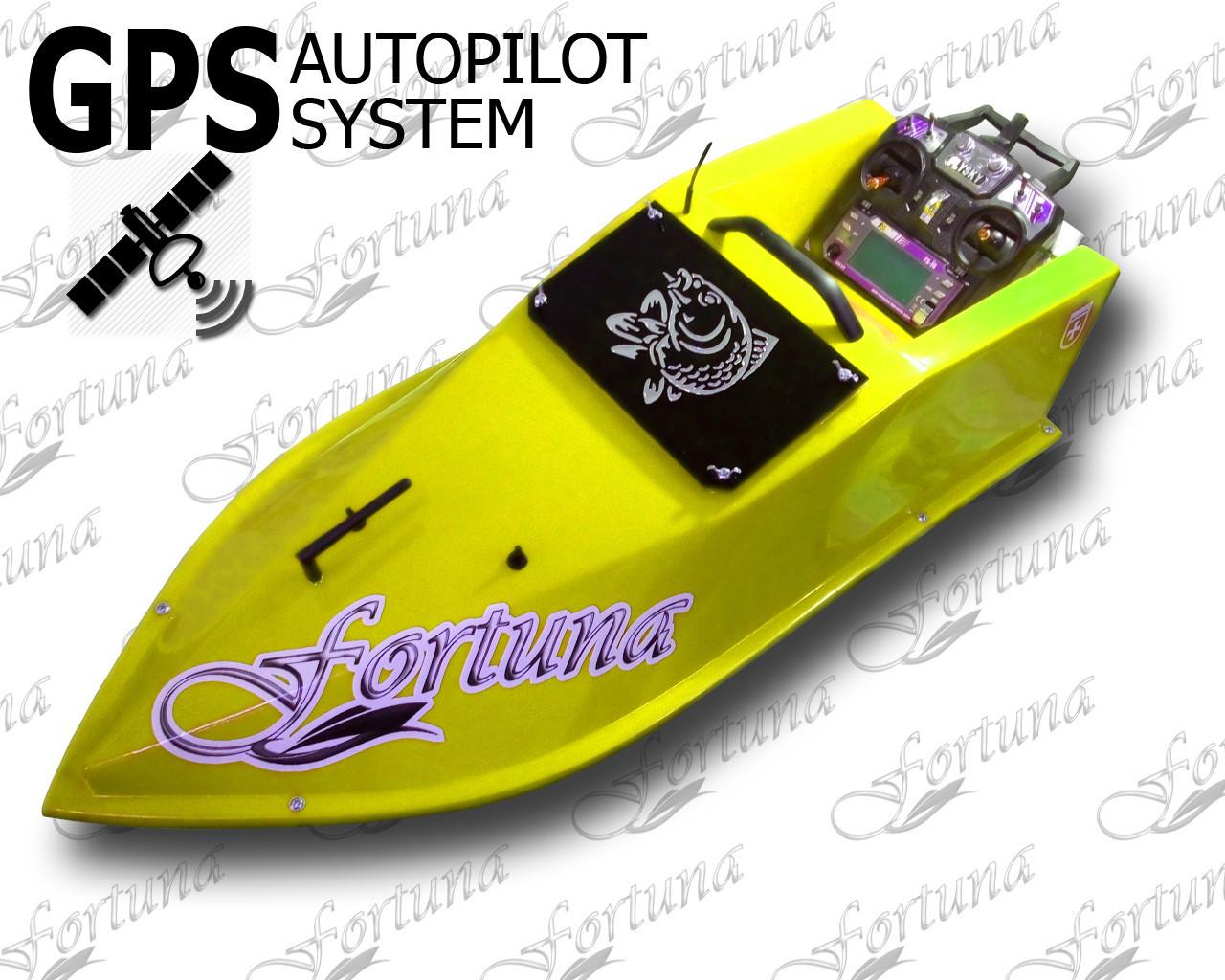 Карповый радиоуправляемый кораблик для завоза прикормки Фортуна с GPS автопилотом