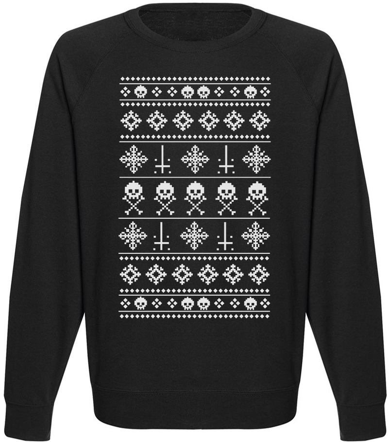 Мужской свитшот Anti-Christmas Pattern (чёрный)
