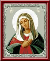 Схема для вышивки Икона Пресвятой Богородицы «Умиление»