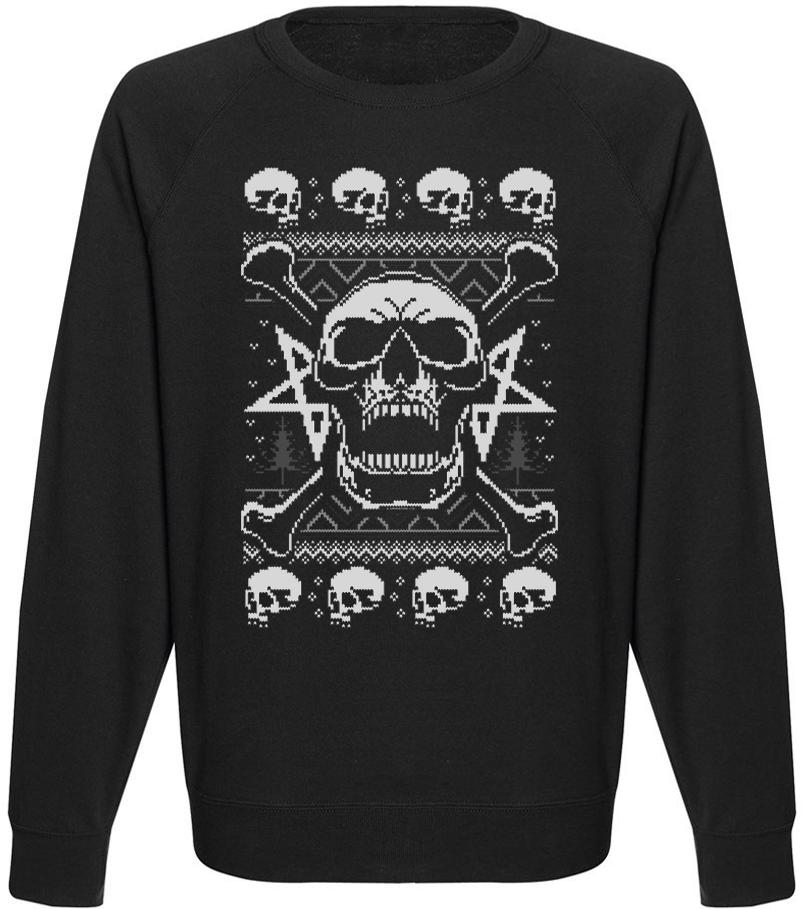 Мужской свитшот Skull Fury (чёрный)