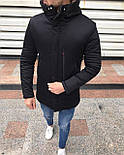 😜 Куртка чоловіча зимова парку чорна з хутряним коміром ( відстібається), фото 2