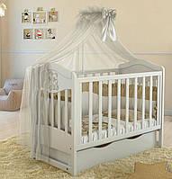 Дитяче ліжечко Angelo Lux-2 Біле