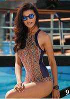 Купальник Self  для бассейна с геометрическим принтом