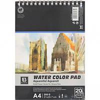 """Альбом для акварели """"Water Color Pad"""" 20 листов, 200г/м²"""