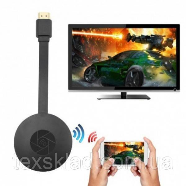 Медиаплеер Full HD Google Chromecast для передачи изображения на TV (Wi-Fi/Bluetooth)