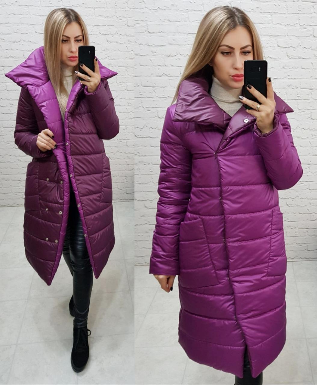 Курточка одеяло евро зима на две стороны арт. 1006 малина + марсала / малиновый с бордовым