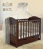 Дитяче ліжечко Angelo Lux-2 Темний горіх, фото 1
