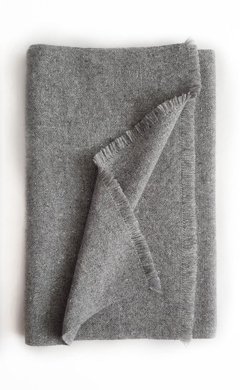 Кашемировый шарф Chadrin серый из беби кашемира
