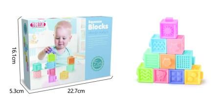 Пищалка-кубики, 10шт/упак., 6611
