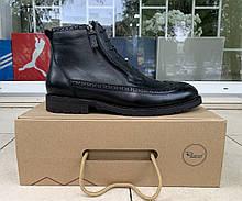 Мужские зимние ботинки Respect натуральная кожа цигейка 41