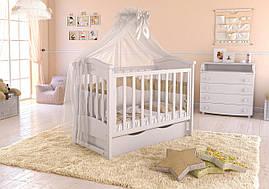 Дитяче ліжечко Angelo Lux-4 Біле