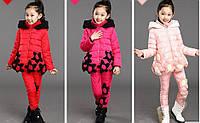 Зимний костюм тройка для девочек, разные цвета Д-673-О