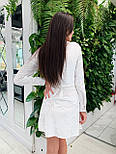 Велюрову сукню на запах з довгим рукавом vN5625, фото 5
