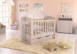 Дитяче ліжечко Angelo Lux-4 Слонова кість