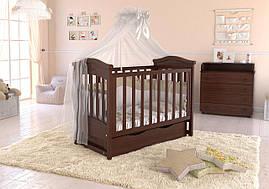 Дитяче ліжечко Angelo Lux-4 Темний горіх