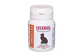 Кормовая добавка VitamAll для улучшения шерсти для котов 100 табл/50 г