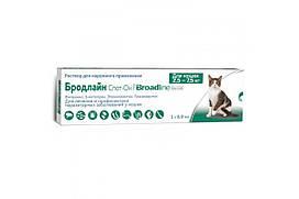 Капли Boehringer Ingelheim Broadline Спот-он против паразитов для кошек, L (2.5-7.5 кг) (1 аппликатор) (50117)