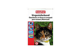 Ошейник Beaphar против блох и клещей для кошек, желтый, 35 см
