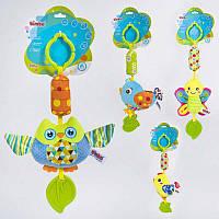 Погремушка-подвеска мягкая BIMBO, Птички, с пищалкой, с прорезывателем, 3 вида, BM-90955