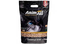 Древесный наполнитель AnimAll для котов, 5.3 кг, 300 г бесплатно