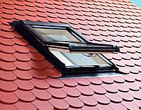 Мансардне вікно Roto (Рото) 54/98 Designo R4 з центральною віссю повороту із ПВХ, купити,ціна Львів