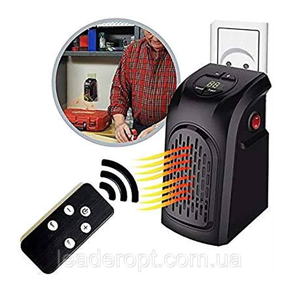 Портативный электрический мини-обогреватель тепловентилятор Handy Heater с пультом управления ОПТ