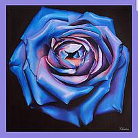 """Платок шелковый Chadrin """"Ночная роза"""" синий"""