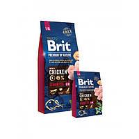 Сухой корм Brit Premium Senior L+XL для пожилых собак крупных и гигантских пород со вкусом курицы 15 кг