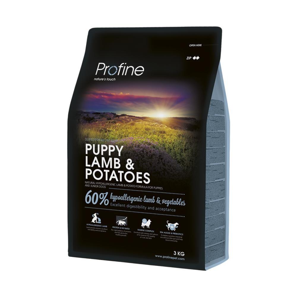 Сухой гипоаллергенный корм для щенков всех пород Profine Puppy Lamb с ягненком и картофелем 3 кг