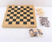Шахматы деревянные шашки нарды, поле 29*29 см