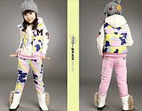 Зимний костюм тройка для девочек, разные цвета Д-674-О, фото 1