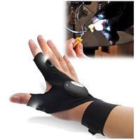 Перчатки Со Встроенным Фонариком Glove Light, фото 1