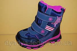 Детская зимняя обувь Термообувь Том.М Китай 1601 Для девочек Синий размеры 27_32