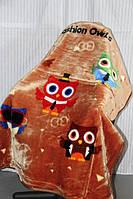 Детское велюровое покрывало Fashion 110х140 см. Совы