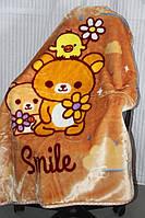 Детское велюровое покрывало Fashion 110х140 см. Smile