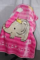 Дитяче велюрове покривало Fashion 110х140 див. Слоник