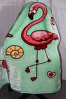 Дитяче велюрове покривало Fashion 110х140 див. Рожевий Фламінго