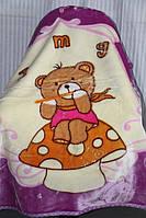Детское велюровое покрывало Fashion 110х140 см. Сиреневое